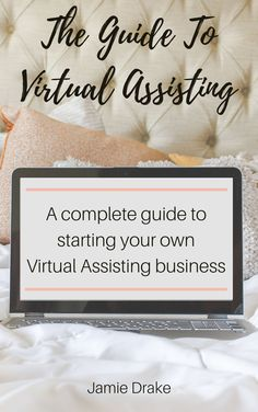 Start your remote work at home Virtual Assisting gig with this complete guide. Online Income, Earn Money Online, Home Based Business, Online Business, Midlife Career Change, Jamie Drake, Virtual Assistant Jobs, Inviting Home, Web Design