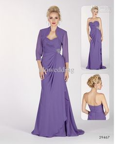 Wholesale Bride Dresses - Buy Fangle Fashion Purple Sweetheart Column Ruffle Floor Length Mother of the Bride Dresses Gowns A9, $105.91 | DHgate