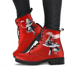 Custom Design Shoes, Custom Shoes, Mandala Elephant, Leather Lace Up Boots, Vegan Shoes, Buy Shoes, Combat Boots, Boots Women, Wonderland