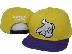 New Era Crooks And Castles Snapbacks Hats Caps Yellow