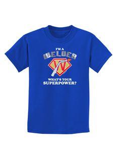 TooLoud Welder - Superpower Childrens Dark T-Shirt
