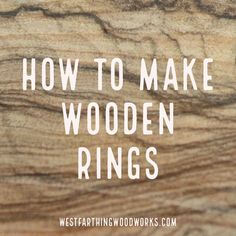 Step by step instructions for making a wooden ring without many tools. This is an easy tutorial to follow, and it's a great project for any new woodworker. Click to read more, and happy building.
