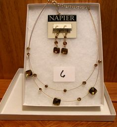 Gorgeous golden necklace and earring set by Napier. Perfect for Holiday entertaining!