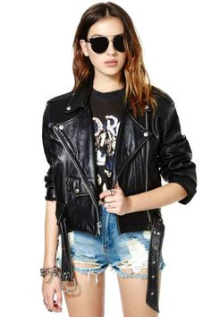 Ride It Out Leather Moto Jacket