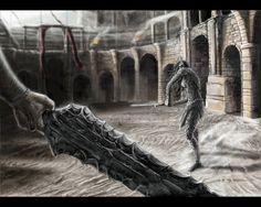 Rhulad on the arena by Araiwein on deviantART