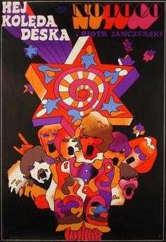 """Waldemar Świerzy, """"Hej Kolęda Deska, NOTOCO"""", 1968, źródło: Galeria Plakatu BUW"""