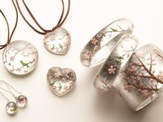Wow!  Love those rings!  Wonder how these are made...Hanami collection~different