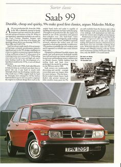 The Vintage Saab 99 Magazine Article