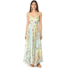 Yumi Kim Peace & Love Maxi Dress ($229) ❤ liked on Polyvore featuring dresses, floral day dress, floral maxi dress, flower print maxi dress, peace sign dress and floral pattern dress