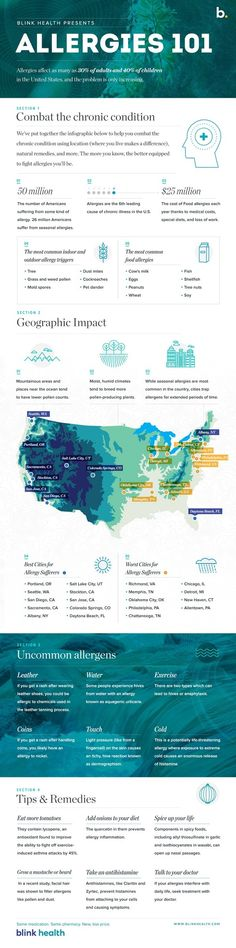 Allergies 101 Infographic