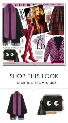 """""""Bold colors"""" by anne-irene on Polyvore featuring Salvatore Ferragamo, Anya Hindmarch and Ludevine"""