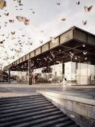 Neue Nationalgalerie by Mies van der Rohe, rendering by Stefan Hirschsteiner Architecture Panel, Architecture Graphics, Architecture Drawings, Landscape Architecture, Architecture Design, Chinese Architecture, 3d Architectural Visualization, Architecture Visualization, Bauhaus