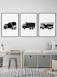 Dump Truck Wall Decor in Black and White for Toddler Boy Room Decor, Transportation Wall Art Instant… Toddler Boy Room Decor, Toddler Boy Gifts, Boys Bedroom Decor, Toddler Rooms, Baby Boy Rooms, Bedroom Themes, Toddler Boy Bedroom Sets, Bedroom Ideas, Baby Room Wall Decor