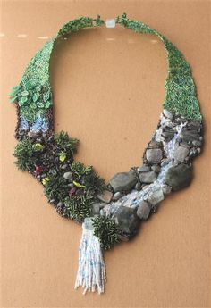 beaded waterfall collar