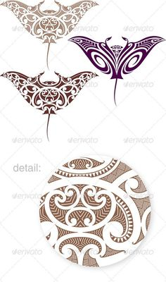 Buy Maori Manta Tattoo Design by artefy on GraphicRiver. Maori styled tattoo pattern in shape of manta ray. Fit for upper and lower back. Vector illustration in EPS Maori Tattoos, Ta Moko Tattoo, Marquesan Tattoos, Samoan Tattoo, Body Art Tattoos, Polynesian Tattoos, Symbol Tattoos, Turtle Tattoos, Buddha Tattoos