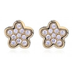 Kolczyki srebrne kwiatki pozłacane mikrosetting Daisy, Stud Earrings, Joy, Accessories, Jewelry, Products, Jewlery, Jewerly, Margarita Flower