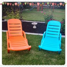 Spray Painting Plastic Outdoor Chairs. I Have Two Pool Chaise Lounges That  Are In Definite Need Of A Facelift!! This Might Be The Answer! Maybe U2026