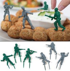 Ladies and gentleman, please, welcome, The Food Fighters! Produced and sold by FiftyTwoWays and Worldwide Fred. Created by Rafael Morgan Studio Lady And Gentlemen, Place Card Holders, Make It Yourself, Create, Gentleman, Birthday Ideas, Party, Purpose, How To Make