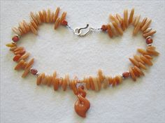 Red Aventurine Pendant & Necklace Sparkles Like the Sun - pinned by pin4etsy.com