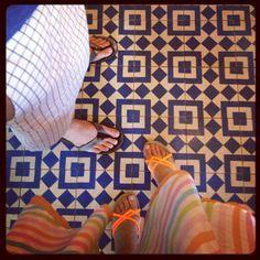 Cool floor at Cafe Intelegencia in Silver Lake, LA, CA