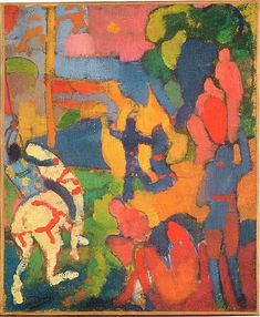 André Derain (June 1880 – was a French painter and co-founder of Fauvism with Henri Matisse… André Derain: Le Cavalier au cheval blanc [Knight on a white horse] (National Gallery of Australia) Paul Cezanne, Art Fauvisme, Fauvism Art, Henri Matisse, André Derain, Pablo Picasso, Maurice De Vlaminck, Raoul Dufy, Georges Braque