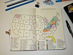 8 Bullet Journal States log
