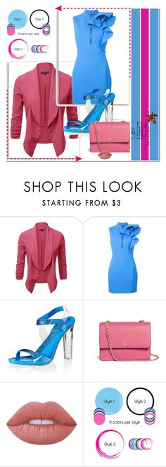 """Blue/pink"" by s-o-polyvore ❤ liked on Polyvore featuring Dsquared2, René Caovilla, Tory Burch and Lime Crime"