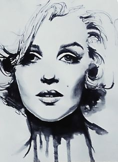 Marilyn Monroe  Pin-Up Art of Therese Rosier  Ink