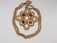 Sarah Coventry Starburst Necklace N14 by delightfullyvintage