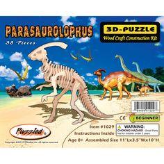 Puzzled Wood Parasaurolophus 3D Puzzle