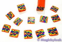 Polymer clay tutorial on how to create rainbow cane covered sculpting tools using Premo Sculpey Polymer Clay with step by step photos Polymer Clay Tools, Polymer Clay Canes, Fimo Clay, Polymer Clay Jewelry, Clay Crafts, Fun Crafts, Biscuit, Ballpoint Pen Drawing, Clay Food