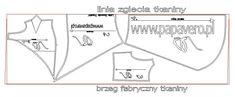 Proponowany układ wykroju na tkaninie, KLIKNIJ aby obejrzeć w powiększeniu.