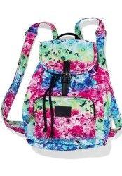 Victoria's Secret PINK RAINBOW FLORAL Mini Backpack School Bag Purse Travel Bag #backpack #mini_backpack