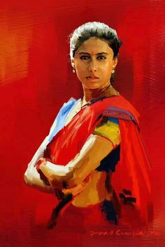 The legendary Indian actress Smita Patil Indian Paintings, Cool Paintings, Beautiful Paintings, Acrylic Paintings, Art Indien, Indian Drawing, Indian Artist, Portrait Art, Portraits