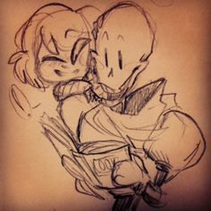 Undertale - Papyrus and Frisk