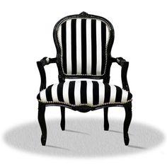 Barock Stuhl schwarz weiss Zebra gestreift modern Polsterstuhl repro antik in Möbel & Wohnen, Möbel, Stühle | eBay