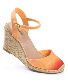 This Orange Ombré Bethany Espadrille is perfect! #zulilyfinds
