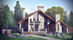 Проект дома #architecture #2floors_6m #housing #modernism #200_300m2 #facade_brick #frame_ironconcrete #cottage #mansion