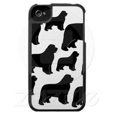 Lots of Newfoundland dogs Iphone 4 Cases from Zazzle.com