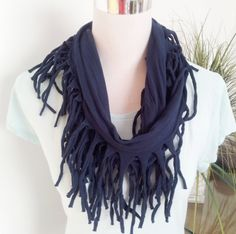 From casual to dressy.  The perfect accessory for all seasons. This infinity scarf is handmade