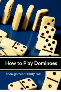 Did you ever learn how to play Dominoes? Let www.gameonfamily.com teach you the Dominoes rules for this classic game!