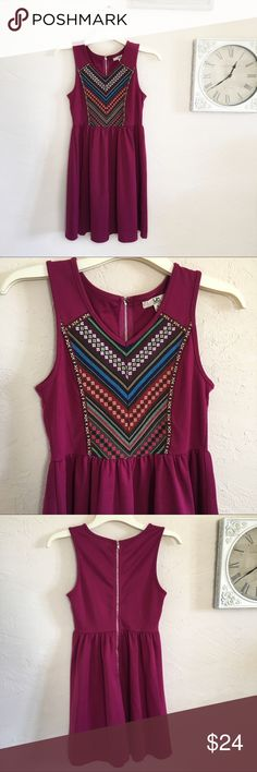 """YA Los Angeles Embroidered Dress Super cute, easy to dress up or down! Great condition, no signs of wear Laying flat: 33"""" length, 16"""" bust, 14"""" waist Zips halfway up the back Ya Los Angeles Dresses"""