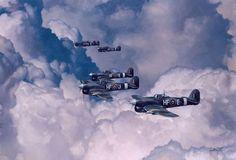 Hawker Typhoon 1B - Aviation Art by Alex Hamilton