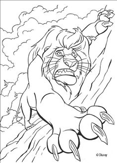 Mufasa in Trouble coloring page