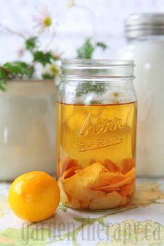 Infusing Vodka for Meyer Lemon Limoncello