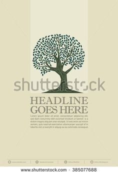 Old oak tree vector art/ Tree poster with layout design/ Brochure template/ Eco friendly print/ Rustic wood forest/ Ecology illustrations