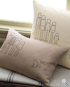 family portrait pillow cover...love it