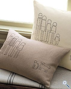 so cute but WAY expensive, wonder if I could achieve the same look with a linen pillow and a fine sharpie?