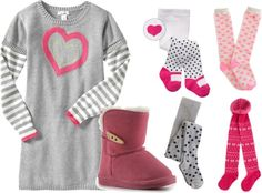 Instant Kid Style: sweater dress + warm tights + Uggs