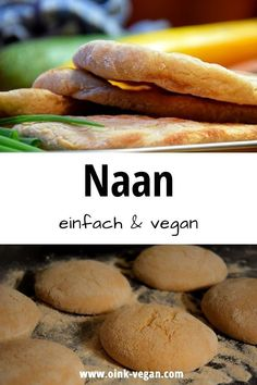 Naan - einfach, lecker Hamburger, Curry, Bread, Food, Vegan Bread, Vegane Rezepte, Fast Recipes, Easy Meals, Curries